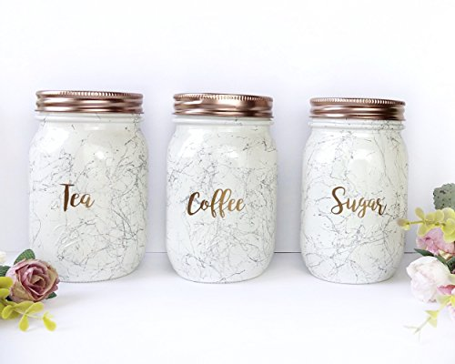 Rose Gold Tea Coffee Sugar Set Kitchen Canisters Copper Kitchen Accessories Marble Mason Jars Kitchen Storage Jar Sets Marble Storage Containers Marble Kitchen Decor Buy Online In Guatemala At Guatemala Desertcart Com Productid