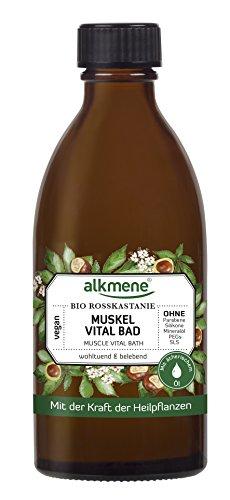 alkmene Muskel Vital Bad mit Bio Rosskastanie, Badezusatz, zur Entspannung der Muskeln, 125 ml - 2er Pack (2 x 125 ml)