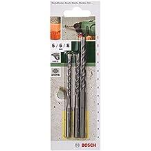 Bosch 2 609 256 908 - Juego de 3 brocas para hormigón SDS-Quick (pack de 3)