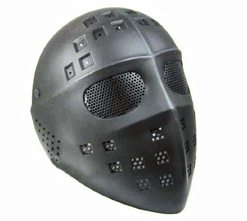hochwertige Paintball Maske Ice-Hockey Horror Jason Vorhees Eishockey Gesichtmaske Schutzmask (Schwarz Hockey Maske)
