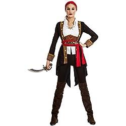 Disfraz de pirata para mujer, casaca negra.