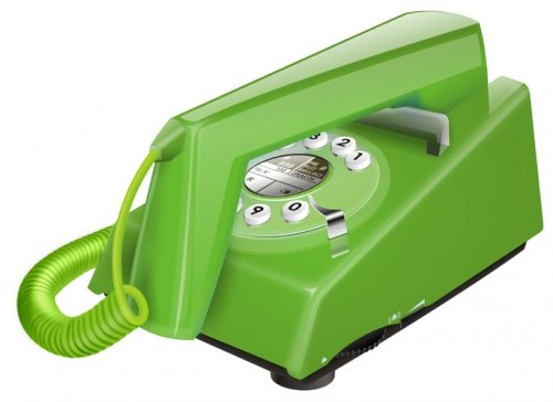 Geemarc Telecom Retro Trimline - Teléfono fijo retro, color verde (im