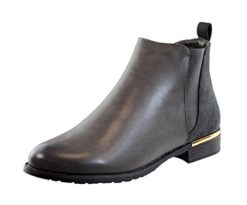 dc090632420 New Womens Ladies Flat Ankle Boots Chelsea Side Zip Casual Low Heel Shoes.  by larena fashion
