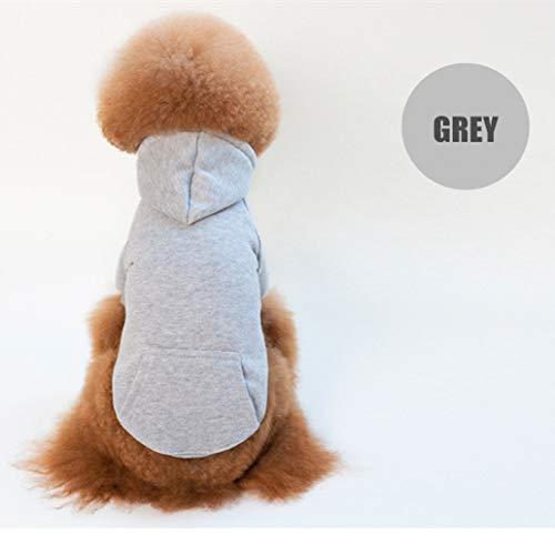 TYJY Hund Hoodies Für Kleine Hunde Winterkleidung Plain Dog Hoodie Mit Kangroo Pocket Solid Dog Sweatshirt Baumwolle Puppy Coat Pink White -