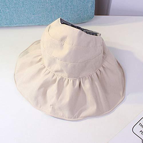 Girl Kostüm Big - xinyus Neue Babyhut Sommer Outdoor Weibliche Baby Sun Hat Kinder Big Hollow Top Hat(None 5 Cream-Coloured)
