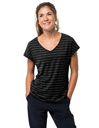 Jack Wolfskin Damen Travel Striped T-Shirt Black Stripes, L -
