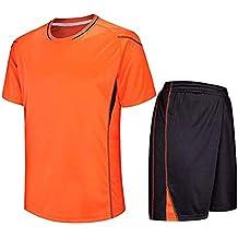 Deylaying Fútbol Camiseta   Shorts Set - Niños Adulto Soccer Equipo  Formación Competencia Jerseys Uniforme 4730936919477