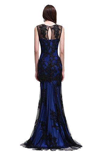 MisShow Damen Elegant Ballkleider Lang Ärmmellos Meerjungfrau Abendkleid Ballkleid Brautjungferkleider Royalblau 42 (Jovani Abendkleider)