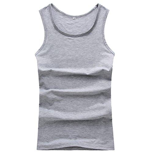 Linyuan Gute Qualität Men's Cotton Summer Basic Ribbed Sleeveless Vest Tank Top Tees Super Big Size