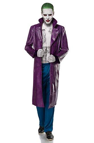 Jokerkostüm Kostüm Joker Halloween Horror Film Fernsehen Bösewicht Gangster Herren Herrenkostüm Man 2-tlg. Karneval - Kostüme Fernsehen