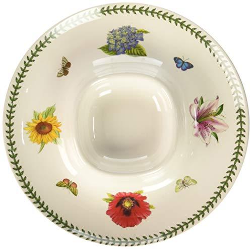 Portmeirion 625730 Botanic Garden Melamine Chip and Dip, White -