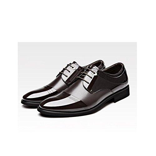 Lyzgf Zapatos Casuales Para Hombres Primavera Y Otoño Negocios Casuales En Encaje Marrón