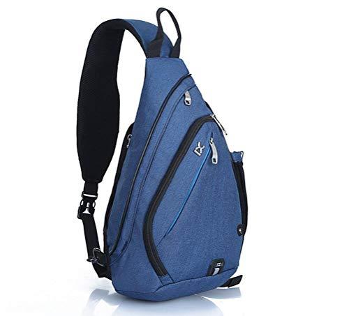 EGOGO Multifunktions Schultertasche Rucksack Crossbody Tasche Sling Tasche Wandern Dackpack ein sollte Schultergurt für Männer und Frauen (Blue)