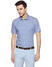 John Miller Men's Solid Slim Fit Synthetic Formal Shirt