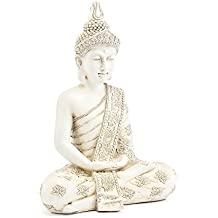 Lesser & Pavey–Figura decorativa de Buda sentado figura decorativa, crema, medio