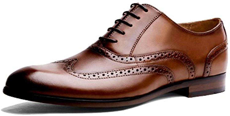 linshuixian quotidienneHommes t à l'extérieur bureau hommes hommes hommes travail fête Marron  derby chaussure orteil noir... 73e0da