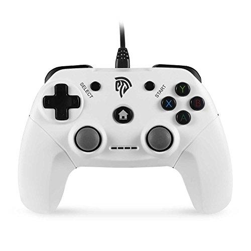 [Geschenk für Jungen] EasySMX Gamepad EG-C3071 USB Verdrahteter Game Kontroller Joystick mit Dual-Vibration Feedback für PC / PS3 / TV Box / Android Handys (weiß)