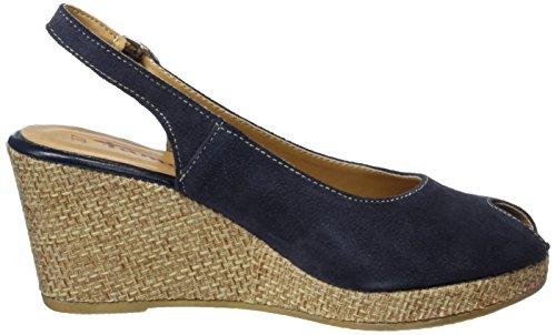 Tamaris 29303, Sandales Bout Ouvert Femme Bleu (Navy/rope 891)