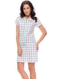 dn-nightwear Damen Umstandsnachthemd / Stillnachthemd TM.7041 aus 100% Baumwolle