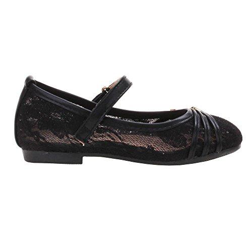 Chaussures pour fille 85–1 fiches f, ballerines femme Noir - Schwarz S