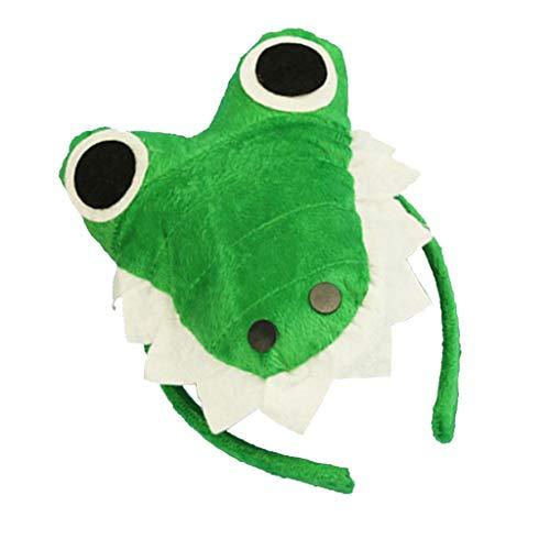 Kostüm Erwachsene Für Plüsch Krokodil - Fenteer Stoff Haarreif Stirnband Kopfband Haarschmuck Kostüm Zubehör mit Tierkopf Design für Alle Menschen - Krokodil