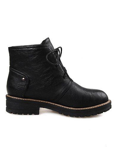 ShangYi Mode Frauen Schuhe Damenschuhe Ferse Mode Schuhe/Stiefel Runder/Casual Kleid Schwarz/Gelb/Grau Grau