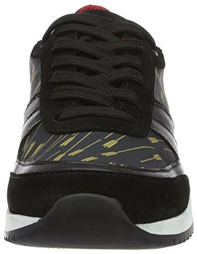 Liebeskind Berlin Ls0112 Calf - Sneakers basses femme Noir - Schwarz (Black With Arrows 99L2)