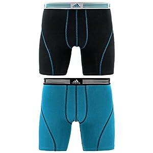 41 uSPBi1LL. SS300  - adidas–Pantalón Deportivo elástico algodón Boxer Breve Ropa Interior (2Unidades)