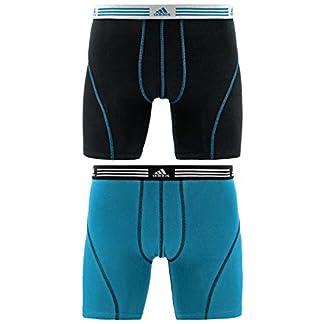 adidas–Pantalón Deportivo elástico algodón Boxer Breve Ropa Interior (2Unidades)