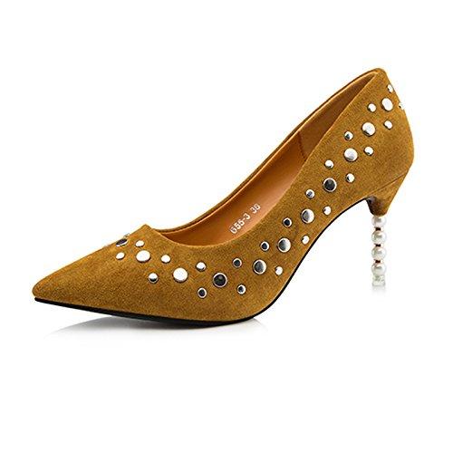 FLYRCX Tacco alto calzature per donna in stile Europeo D