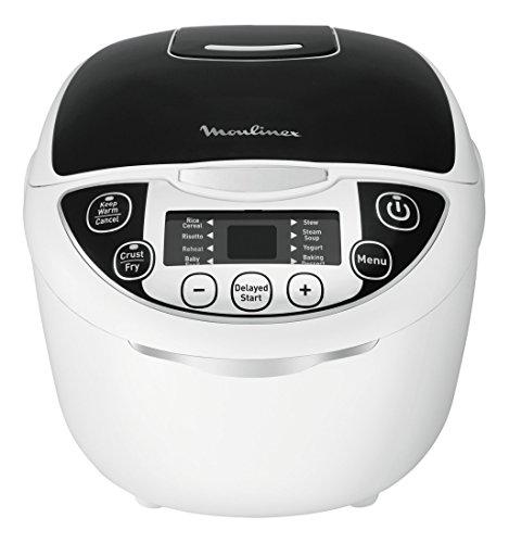 Moulinex MK705811 olla multi-cocción 5 L 750 W Negro, Blanco - Ollas multi-cocción (5 L, 750 W, 42-160 °C, 24 h, Negro, Blanco, LED)