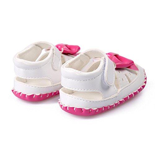 Covermason Baby Mädchen Bowtie Sandalen Kleinkind Schuhe Erste Wanderer Hot Pink