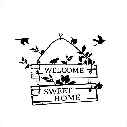 Wall Sticker ZOZOSO Personajes Casa Pájaro Signos Dormitorio Pared De La Decoración De Casa 31 * 39 cm