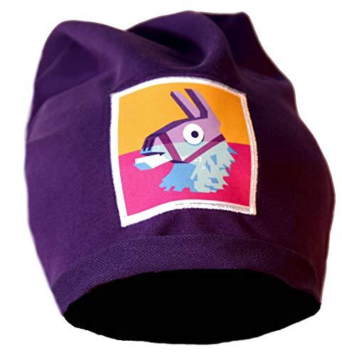 Epic Games Gorra de invierno FORTNITE Viola Aalgodón Hoja Llama Oficial Videojuego Videogame Hat