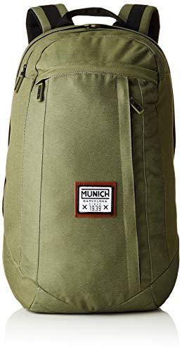Munich Unisex-Erwachsene Backpack PACHT I Rucksack, Grün (Khaki), 19x47x33 Centimeters