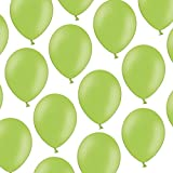100 Luftballons - 23 cm - Pastell Hellgrün Helles Grün - Formstabil - Kleenes Traumhandel®