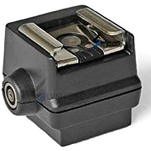 Pixtic–Adaptador de flash para zapata (adaptador) para el uso de Canon, Nikon, Pentax Olympus Flash dispositivos de flash (Mediados De Contacto, Estándar ISO) a cámara SLR Sony/Minolta con conexión para sincronización con PC