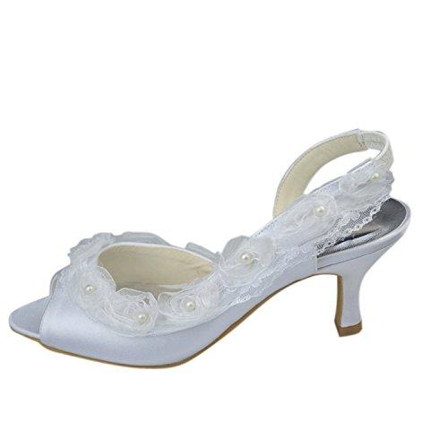 Kevin Fashion , Chaussure de mariée fashion femme Blanco - blanco