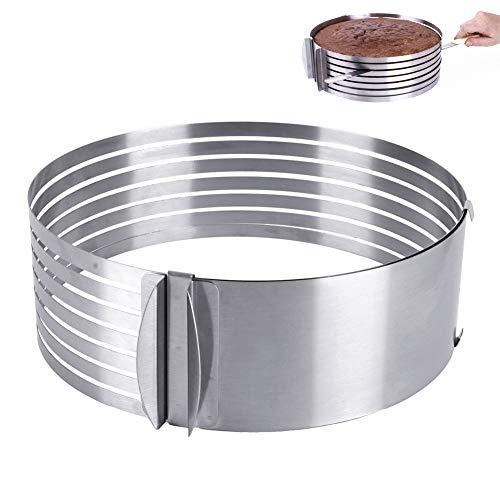 ORION Backrahmen Tortenring Ø26- Ø31cm, flexibel verstellbar, perfekt geeignet für Schichttorten