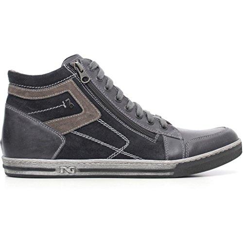 Nero Giardini Sneakers a604380u in pelle grigio (antracite) o blu 41