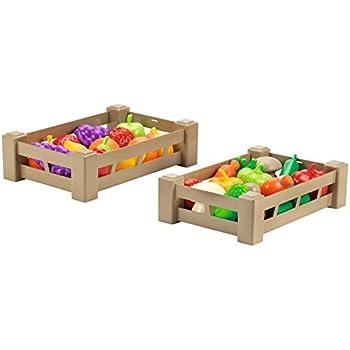 Faro - 94/70 - Jeu D'Imitation - Cuisine - Panier De Fruits/Légumes -23x17x8cm - Modèle aléatoire