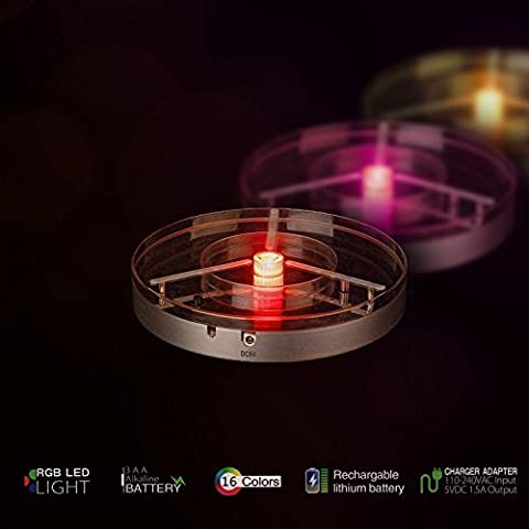 LED Light Base for Vases, Crystals, Centrepiece, Candelabra Party Event