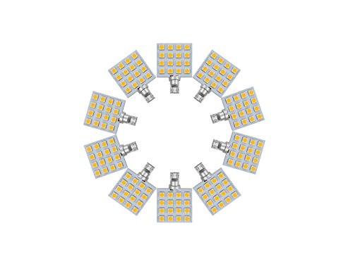 Njytouch 10 pcs Blanc froid 16smd 5050 T10 194 W5 W 192 168 LED WEDGE ampoules de voiture Tail Light 6000 K DC 8-25 V