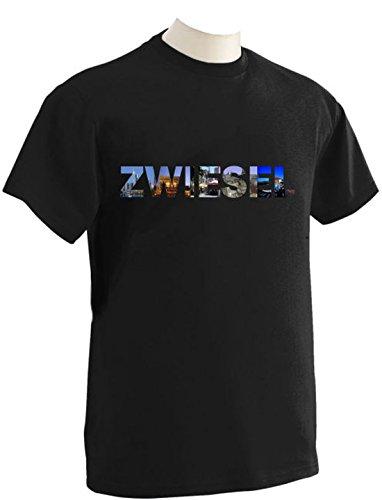 T-Shirt mit Städtenamen Zwiesel Schwarz
