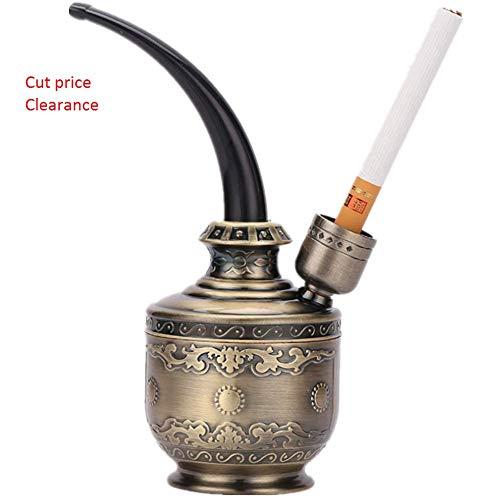 Gli utensili da fumo classici suonano il tubo del filtro dell'acqua narghilè Pipe da tabacco (Bronze)