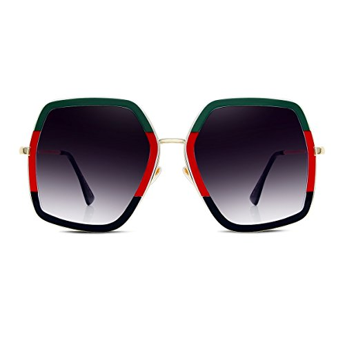 Sunyan Frühjahr neue Big Box quadrat Sonnenbrille, ein rundes Gesicht video thin Sonnenbrille, so Herr Ngan Persönlichkeit Tide Resort Gläser, Anzug