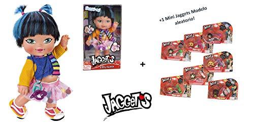 Jaggets - Muñeca Shashi-mi 14'/35cm en Caja (Famosa 700013785) + 1 Mini Luminosa Jaggets aleatoria 1'5'/4cm en Blister (Famosa 70014074)