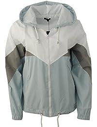 Gracious Girl neuen Frauen Kontrast Farbe Block Kapuze Regen Mac Festival Cagoule Damen Windbreaker Jacke