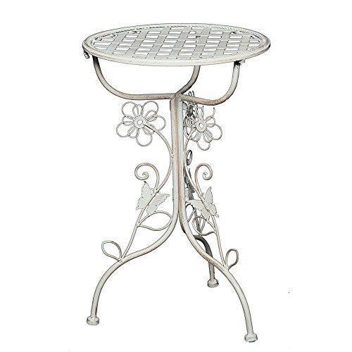 Romantischer Jugendstil Blumentisch, Beistelltisch, Nostalgie Eisen Tisch