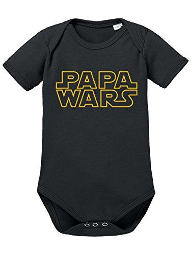clothinx Baby Body Unisex Papa wars Schwarz/Gelb Größe 50-56